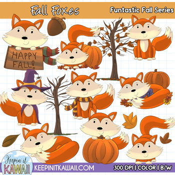 Funtastic Fall Growing Bundle Clip Art - Fall Clipart