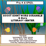 SCOOT Sight Word Scramble & More.. Literacy Center (Pre-K, SPED)