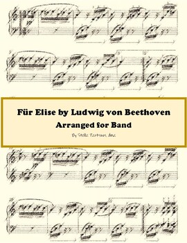 Fur Elise by Beethoven Arranged for Band