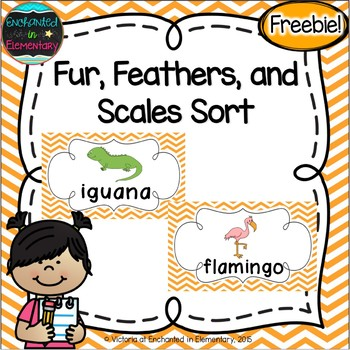 Fur, Feathers, and Scales Sort {Freebie!}