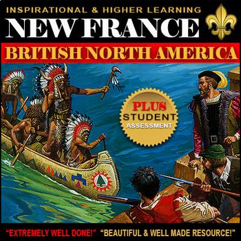 New France & Explorer Bundle   ★★★★ / Jacques Cartier ASSESSMENT & WORKSHEETS!