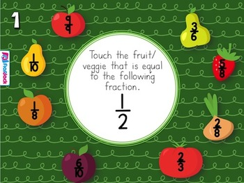 Fruits and Veggie FRACTIONS PowerPoint Game