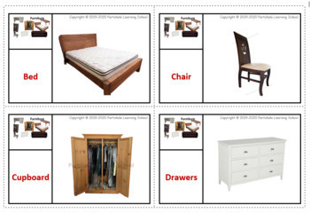 Furniture - Flash Cards with Real Images