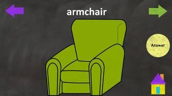 Furniture - House - ESL Power Point Interactive Lesson NO PREP