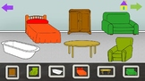Furniture - House - ESL Power Point Interactive Lesson NO PREP