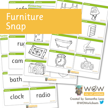 Furniture Pairs and Snap (Card Game)