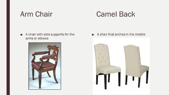 Furniture Types and Descriptions