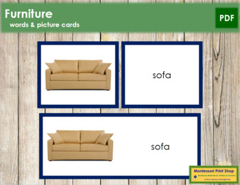 Furniture: Words and Picture Cards