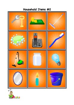 Furniture and Household Items Vocabulary Cards