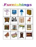 Furniture in English Bingo