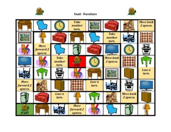 Furniture in English Snail game
