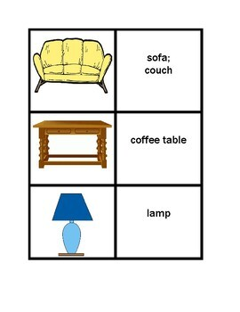Furniture in English Concentration games