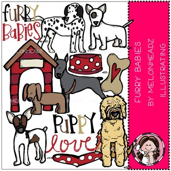 Melonheadz: Furry Babies clip art - COMBO PACK