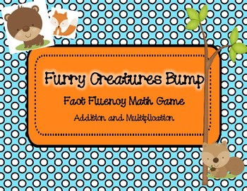 Furry Creatures Bump Addition and Multiplication: Fact Flu