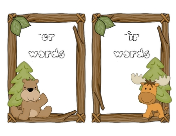 Furry Forest Friends! An R-Controlled Word Sort