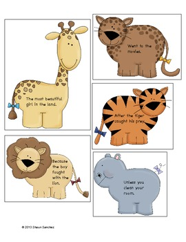 Furry Fragments- A Worksheet and Activity Pack for Fragments (Common Core)