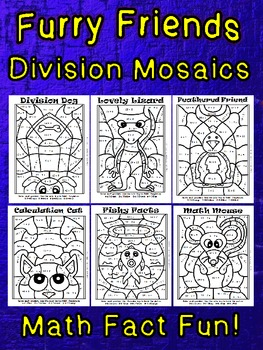 Furry Friends Division Mosaics-New Images-Math Fact Fun!