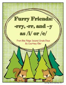Furry Friends In The Forest: -rr, -rry, and y as i or e Word Work patterns