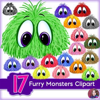 Furry Monsters Clipart