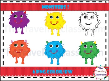 Furry Monster Clip Art