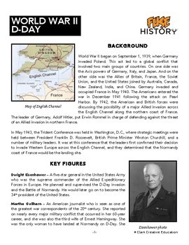 Fuse History - D-Day - World War II - Slides, Leveled Reading & Activities