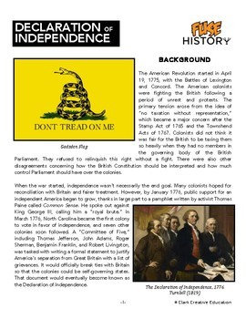 Fuse History - Declaration of Independence - Slides, Readings & Activities