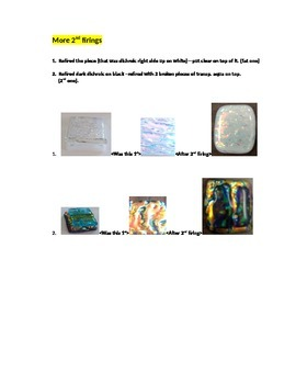 Fused Glass Jewelry--before and after gorgeous transformations--Jr. and H.S. Art