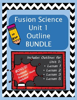 Fusion Science 4th grade outline UNIT 1 BUNDLE