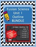 Fusion Science 4th grade outline UNIT 1 BUNDLE