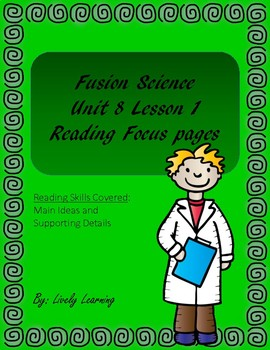 Fusion Science Reading Focus lesson Unit 8 Lesson 1 (4th grade)