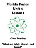 Fusion Science Unit 4 lesson 1 Cloze Reading
