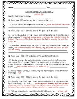 Fusion Science Unit 5 lesson 2 guided notes