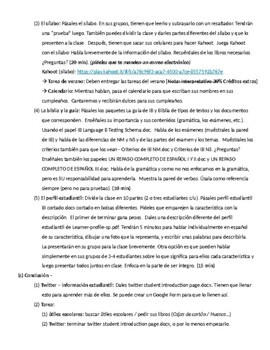 Fusiones intralingüísticas: IB Spanish unit plans