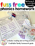 Reading Homework for Dipthongs and R controlled Vowels