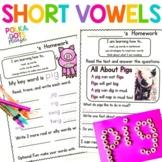 Reading Homework Short Vowels