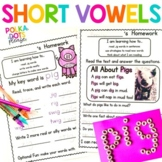 Short Vowel Worksheets | Distance Learning