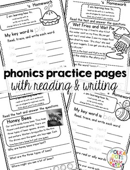 Fuss Free Phonics Homework for Vowel Teams