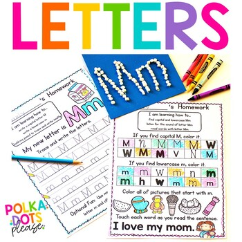 Fuss Free Phonics Homework for the Alphabet and Letter Sounds