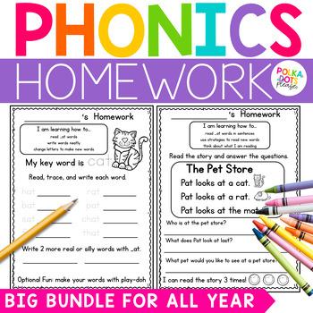 Fuss Free Phonics Homework for the YEAR!
