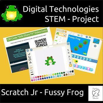 Coding Digital Technologies - Fussy Frog - A Scratch Jr Project For Beginners