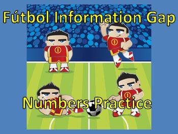 Fútbol Information Gap (Numbers Practice)