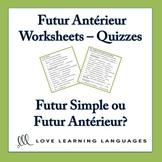 Futur Antérieur Worksheets - Quizzes