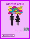 Futur simple (Future tense in French) Partner speaking activity