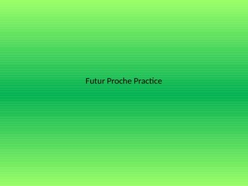 Futur Proche Practice Powerpoint