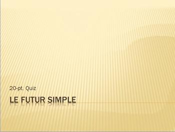 Futur Simple : 20-pt. conjugation quiz