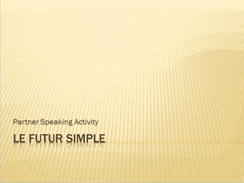 Futur Simple : partner speaking activity