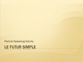 Futur Simple : partner speaking activity