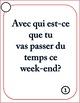 Futur proche speaking task cards