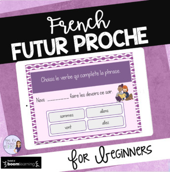 Futur proche task cards - French Boom cards