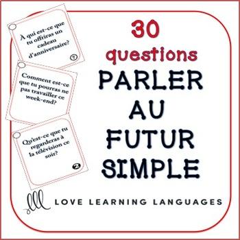 Futur simple speaking task cards